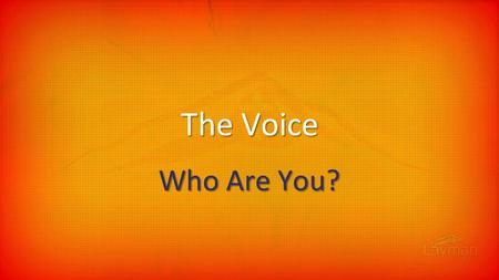 The Voice Who Are You?. My awesome 486 computer Who are you?