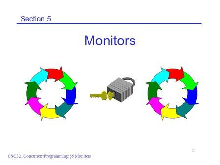 CSC321 Concurrent Programming: §5 Monitors 1 Section 5 Monitors.