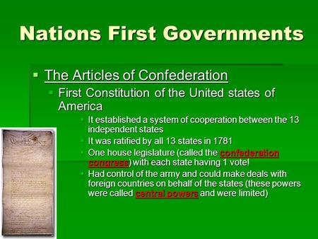 an introduction to the articles of confederation in the constitution of the united states of america The current united states constitution replaced the  how many states were united under the articles of confederation 2  shall be the united states of america.