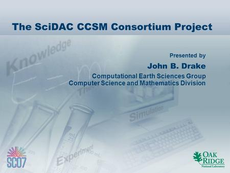 Collaborative design and development of the community - Div computer science ...