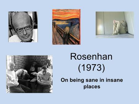 david rosenhans experiment essay