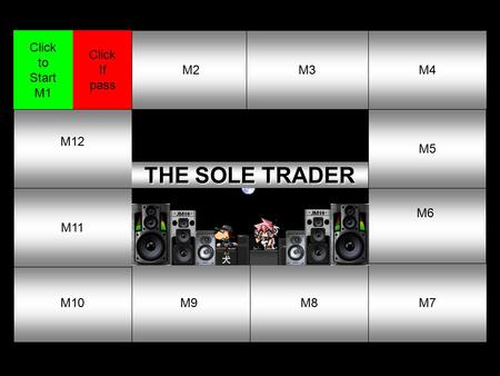1M2M3M4 M5 M6 M7M8M9M10 M11 M12 Click If pass Click to Start M1 THE SOLE TRADER THE SOLE TRADER.