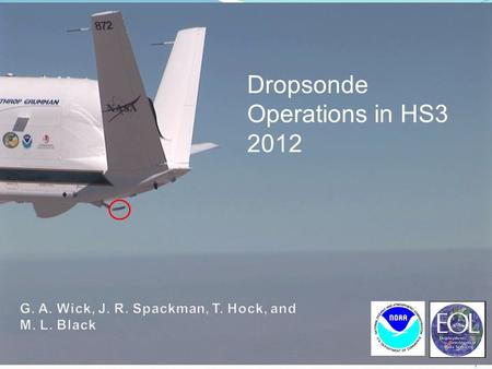 1 Dropsonde Operations in HS3 2012. 2 WISPAR analyses nearing completion Atmospheric River analysis AR transport characteristics Comparison with NWP reanalyses.