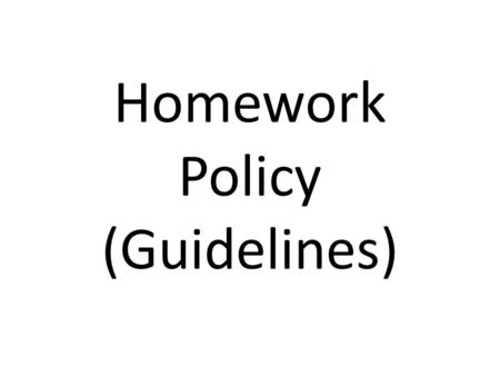 Why Homework Practices Need to Change