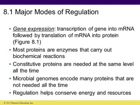 8.1 Major Modes of Regulation