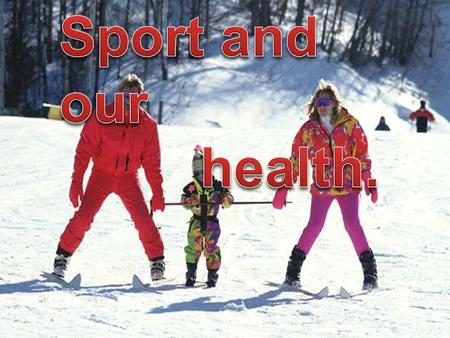 Our health is associated with the way of life that we lead. Sport plays an important role in the condition of our body, the support of all the muscles.
