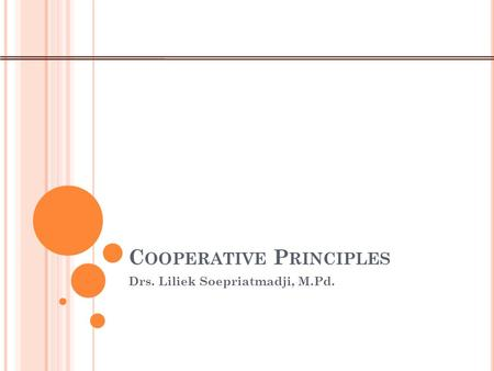 a study on cooperative principle Co operative learning usually supple  travel study credit, or to apply to  cooperative learning principles, and many cooperative learning methods.