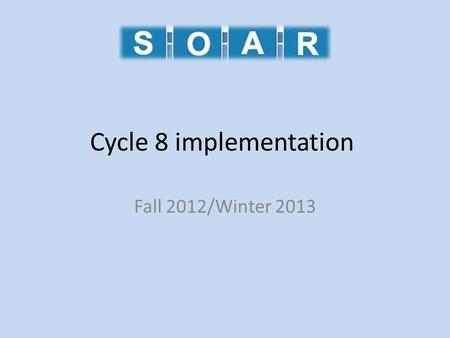 Cycle 8 implementation Fall 2012/Winter 2013. Meet the staff Christie Thomas Library Automation Consultant Joe Horning TLC On-site.