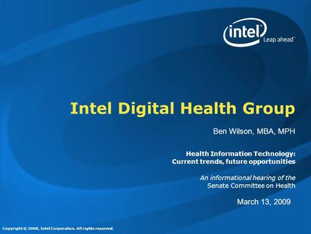 Intel Digital Health Group