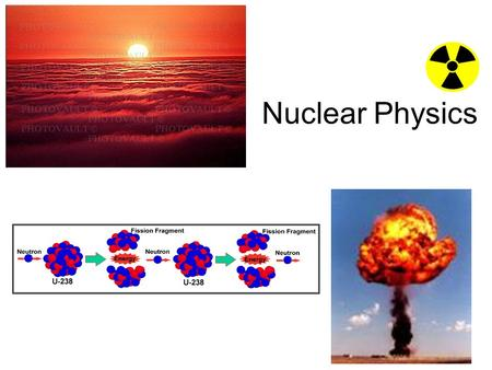 "Nuclear Physics. Discovery of the Nucleus Prior to 1911, the atom was thought to be like a ""plum pudding"", with its positive charge spread out through."