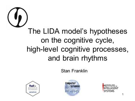 "The LIDA model's hypotheses on the cognitive cycle, high-level cognitive processes, and brain rhythms Who""s IDA Stan Franklin."