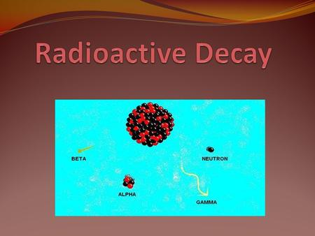 Alpha Decay A Helium- 4 nucleus (two protons and two neutrons). Is produced by nuclear fission Massive nucleus breaks apart into two less-massive nuclei.