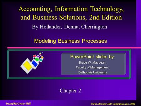 By Hollander, Denna, Cherrington PowerPoint slides by: Bruce W. MacLean, Faculty of Management, Dalhousie University Accounting, Information Technology,