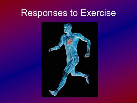 Responses to Exercise. Cardiac Output Cardiac Output (Q) – the volume of blood that is pumped out of the left ventricle in 1 minute  Measured in L/min.
