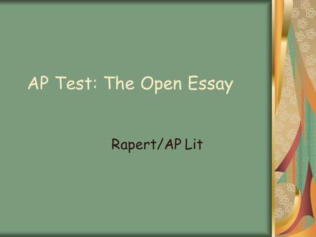 Ap Theme Essay