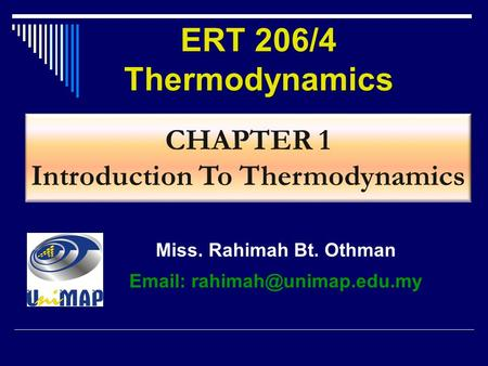Introduction To Thermodynamics