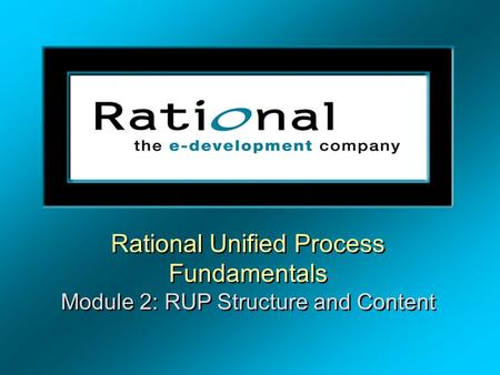 RUP Fundamentals Instructor Notes