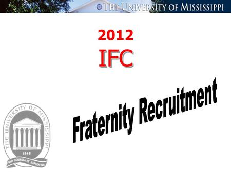 2012 IFCIFC. What is the Interfraternity Council ? The Interfraternity Council ( IFC ) is the governing body for members of IFC Chapters. IFC Executive.