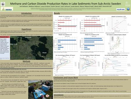 Methane and Carbon Dioxide Production Rates in Lake Sediments from Sub-Arctic Sweden Joel DeStasio 1, Madison Halloran 2, Lance Erickson 3, Ruth K Varner.