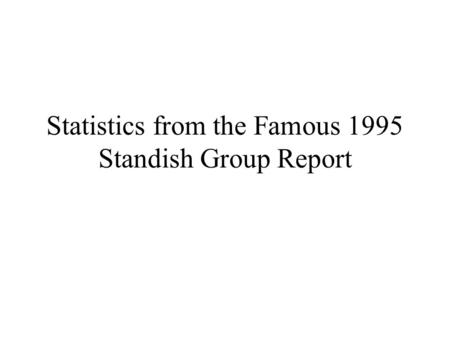 Statistics from the Famous 1995 Standish Group Report.