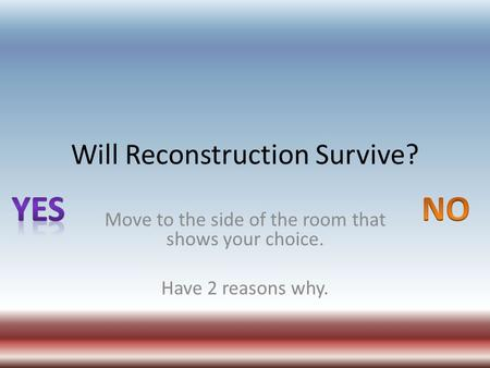 Reconstruction And Westward Expansion Ppt Video Online