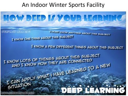 An Indoor Winter Sports Facility. Depth of understanding I know nothing about this topic I know one thing about this topic I know several things about.