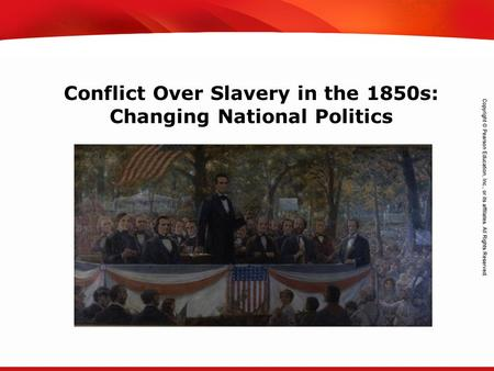 TEKS 8C: Calculate percent composition and empirical and molecular formulas. Conflict Over Slavery in the 1850s: Changing National Politics.