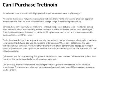 Where can i buy tretinoin