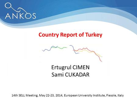 Country Report of Turkey 14th SELL Meeting, May 22-23, 2014, European University Institute, Fiesole, Italy Ertugrul CIMEN Sami CUKADAR.