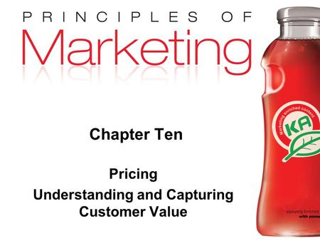 Pricing Understanding and Capturing Customer Value