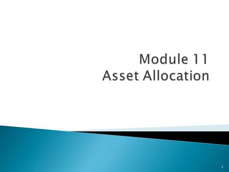 1.  Define asset allocation.  List the asset classes and subcategories an investor can select from.  Explain how asset allocation can maximize return.