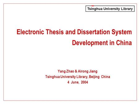 Digital thesis and dissertation accomplished