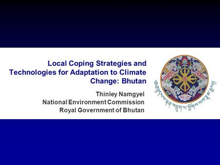 Thinley Namgyel National Environment Commission