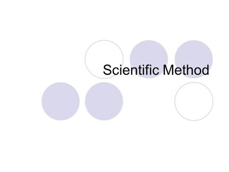 Scientific Method. Steps of the scientific method Observe: the environment Question: Recognize there is a problem and state it in question form Hypothesis-
