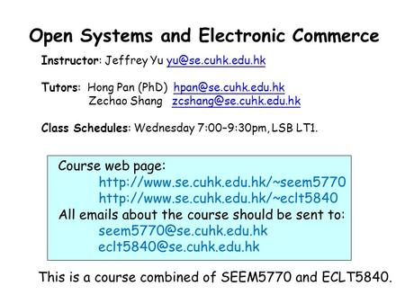 Open Systems and Electronic Commerce