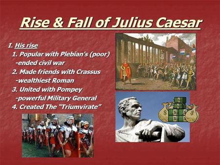 Rise and fall of julius caesar essays