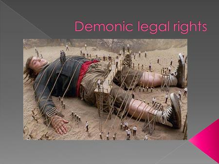  A legal right is something that can give demons an opportunity to enter or harass us, or gives them the right to remain in us (to Possess us) or make.