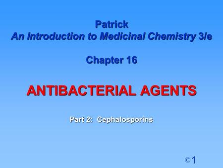An Introduction to Medicinal Chemistry 3/e