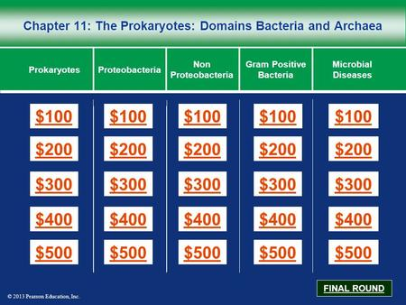 Chapter 11: The Prokaryotes: Domains Bacteria and Archaea
