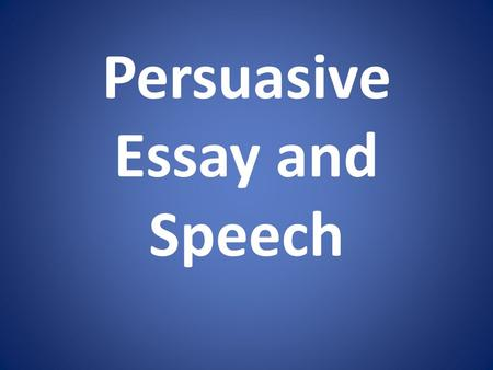 persuasive speech to convince Persuasive words: key phrases to get them on your side may 14,  you will not be persuasive when you boil it down, persuasion is all about power.