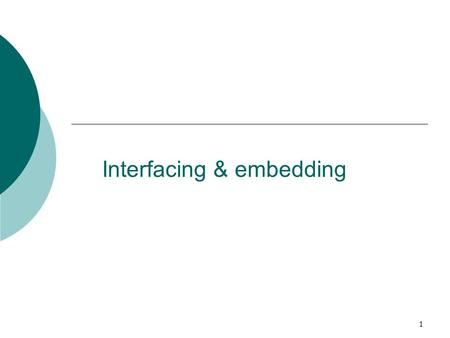 "1 Interfacing & embedding. 2 References  Full tutorial and references Embedding and Interfacing Manual Windows - select ""Documentation"" from the ECLiPSe."