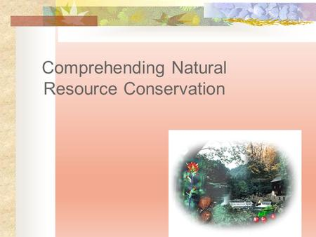 Comprehending Natural Resource Conservation. Next Generation Science/Common Core Standards Addressed! HS ‐ ESS3 ‐ 3. Create a computational simulation.