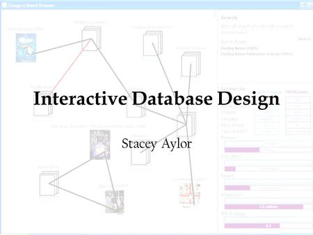 Interactive Database Design Stacey Aylor. Login – user must have a valid username and password.