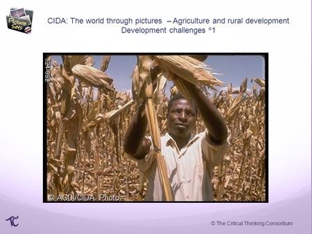 © The Critical Thinking Consortium CIDA: The world through pictures – Agriculture and rural development Development challenges # 1.