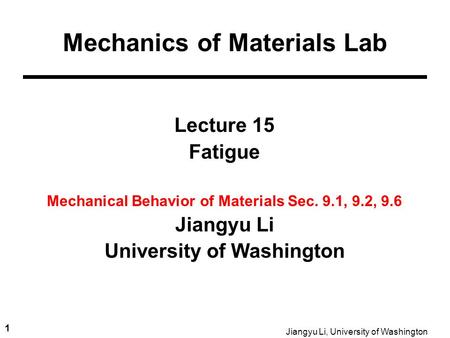 Mechanics of Materials Lab