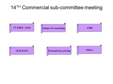 14 TH Commercial sub-committee meeting UI &REC Audit Talcher II scheduling SEM DATATransmission pricing AMR Others.