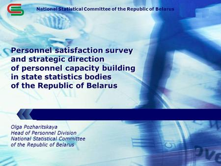 LOGO Personnel satisfaction survey and strategic direction of personnel capacity building in state statistics bodies of the Republic of Belarus National.
