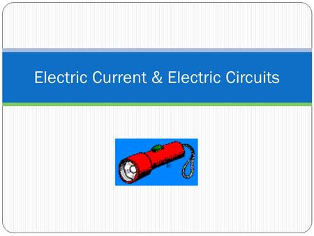 Electric Current & Electric Circuits. The movement of electrically charged particles is an electric current. The SI unit for electric current is ampere.