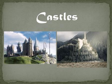 Castles were built throughout Europe by Kings and nobility to preserve their power over the land. Primary purpose: military (defending the region) It.