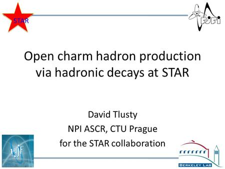 Open charm hadron production via hadronic decays at STAR